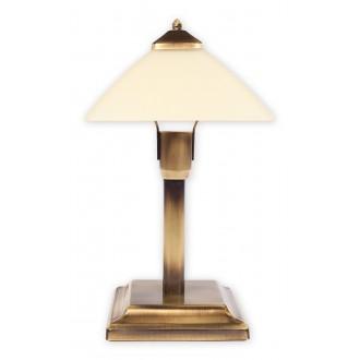 LEMIR 978MK/L1 | Krzyzak Lemir asztali lámpa 40cm vezeték kapcsoló 1x E27 bronz, krémszín