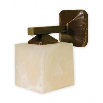 LEMIR O1060/K1 BR | KostkaBR Lemir fali lámpa 1x E27 barna, arany antikolt , krémszín