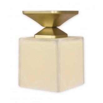LEMIR O1061/W1 ZL | KostkaZL Lemir mennyezeti lámpa 1x E27 arany, krémszín