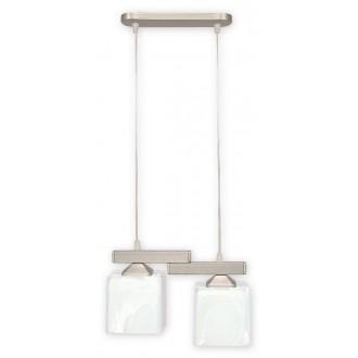LEMIR O1062/W2 SAT | KostkaSAT Lemir függeszték lámpa rövidíthető vezeték 2x E27 matt króm, szatén