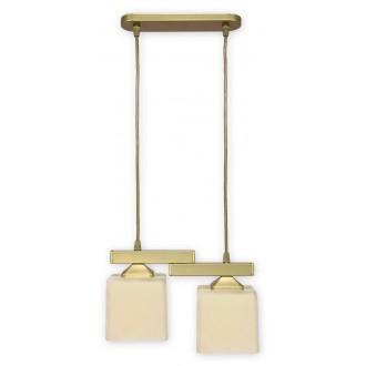 LEMIR O1062/W2 ZL | KostkaZL Lemir függeszték lámpa 2x E27 arany, krémszín