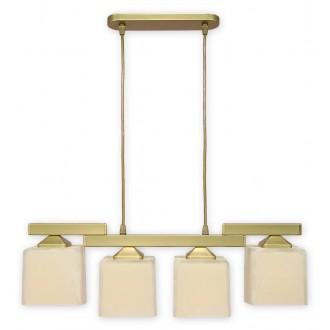 LEMIR O1064/W4 ZL | KostkaZL Lemir függeszték lámpa 4x E27 arany, krémszín