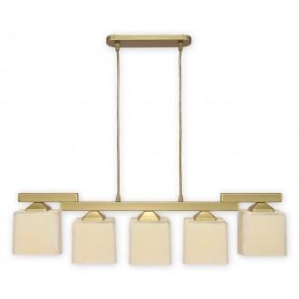 LEMIR O1065/W5 ZL | KostkaZL Lemir függeszték lámpa 5x E27 arany, krémszín
