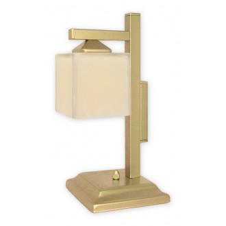 LEMIR O1068D/L1 ZL | KostkaZL Lemir asztali lámpa 40cm vezeték kapcsoló 1x E27 arany, krémszín