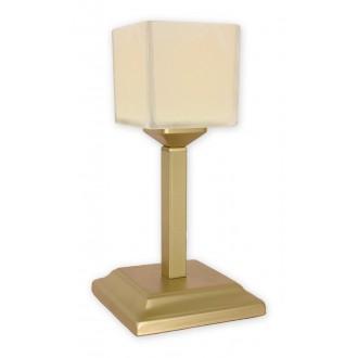 LEMIR O1068G/L1 ZL | KostkaZL Lemir asztali lámpa 35cm vezeték kapcsoló 1x E27 arany, krémszín
