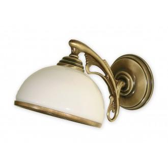 LEMIR O1130/K1 | HektorL Lemir falikar lámpa 1x E27 bronz, fehér