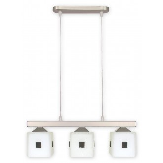 LEMIR O1183/W3 SAT | Morfeusz Lemir függeszték lámpa 3x E27 matt króm, fehér