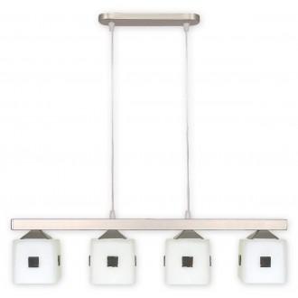 LEMIR O1184/W4 SAT | Morfeusz Lemir függeszték lámpa 4x E27 matt króm, fehér