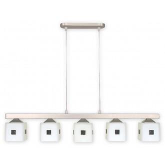 LEMIR O1185/W5 SAT | Morfeusz Lemir függeszték lámpa 5x E27 matt króm, fehér