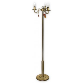 LEMIR O1319/L3 | Antares Lemir álló lámpa 160cm taposókapcsoló 3x E14 bronz
