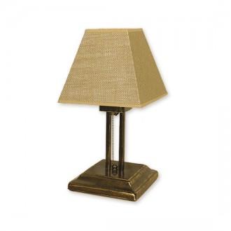 LEMIR O1368 OLZ | HorusL Lemir asztali lámpa 38cm húzókapcsoló 1x E27 bronz