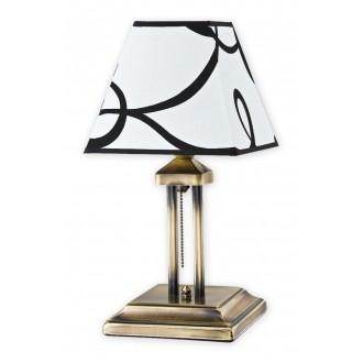 LEMIR O1368 PAT | HorusL Lemir asztali lámpa 38cm húzókapcsoló 1x E27 sárgaréz