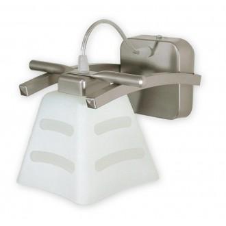 LEMIR O1410 SAT | Dipol Lemir fali lámpa 1x E27 matt nikkel, fehér