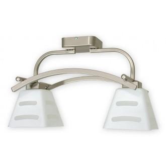 LEMIR O1412P SAT | Dipol Lemir mennyezeti lámpa 2x E27 matt nikkel, fehér