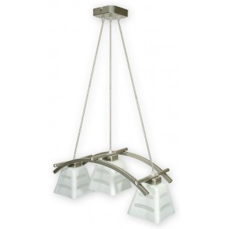 LEMIR O1413 SAT | Dipol Lemir függeszték lámpa 3x E27 matt nikkel, fehér