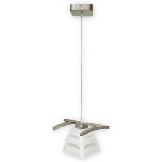 LEMIR O1417 SAT | Dipol Lemir függeszték lámpa 1x E27 matt nikkel, fehér