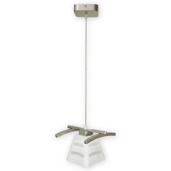 LEMIR O1417 SAT   Dipol Lemir függeszték lámpa 1x E27 matt nikkel, fehér