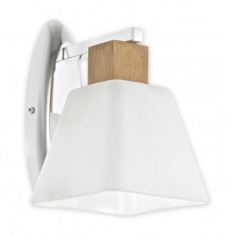 LEMIR O1470 DB | Dreno Lemir fali lámpa 1x E27 króm, tölgy, fehér