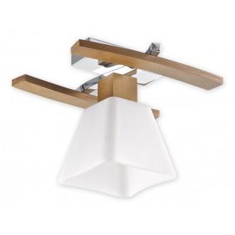 LEMIR O1471 DB | Dreno Lemir mennyezeti lámpa 1x E27 króm, tölgy, fehér