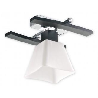 LEMIR O1471 WG | Dreno Lemir mennyezeti lámpa 1x E27 króm, wenge, fehér