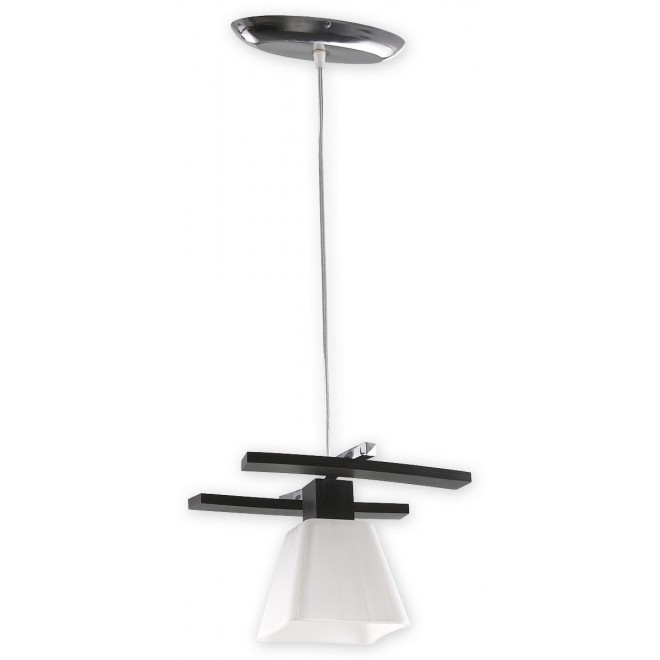 LEMIR O1477 WG | Dreno Lemir függeszték lámpa rövidíthető vezeték 1x E27 króm, wenge, fehér