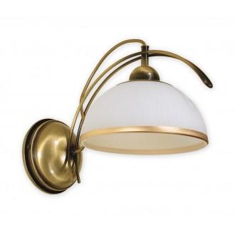 LEMIR O1480 PAT   FlexL Lemir fali lámpa 1x E27 bronz, fehér