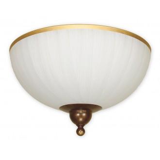 LEMIR O1481 BR | FlexL Lemir mennyezeti lámpa 2x E27 barna, arany antikolt , fehér