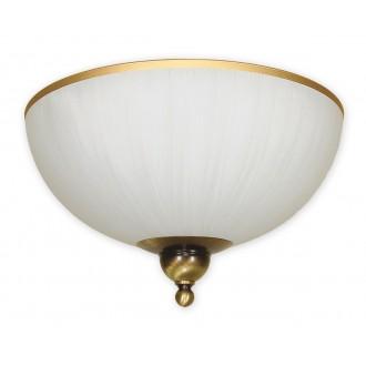 LEMIR O1481 PAT | FlexL Lemir mennyezeti lámpa 2x E27 bronz, fehér