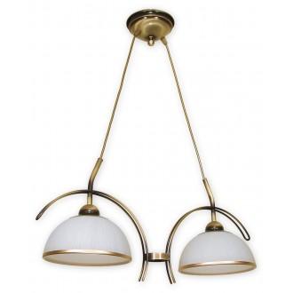 LEMIR O1482 PAT | FlexL Lemir függeszték lámpa 2x E27 bronz, fehér