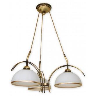 LEMIR O1483 PAT | FlexL Lemir csillár lámpa 3x E27 bronz, fehér