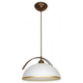 LEMIR O1487 BR | FlexL Lemir függeszték lámpa 1x E27 barna, arany antikolt , fehér