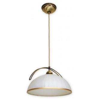 LEMIR O1487 PAT | FlexL Lemir függeszték lámpa 1x E27 bronz, fehér