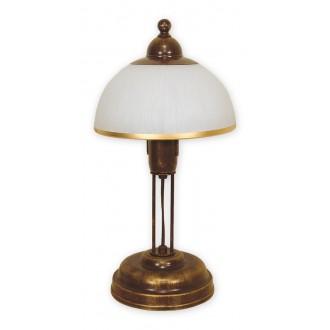 LEMIR O1488 BR   FlexL Lemir asztali lámpa 40cm vezeték kapcsoló 1x E27 antikolt barna, fehér