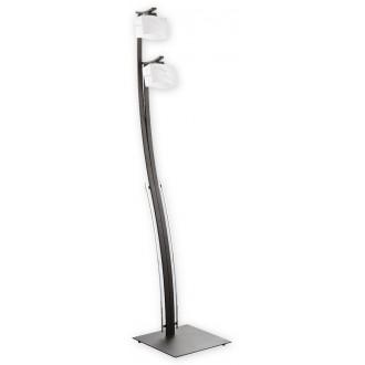 LEMIR O1599 RW | SonaRega Lemir álló lámpa 162cm taposókapcsoló 2x E27 króm, antikolt wenge