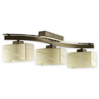 LEMIR O1603 ZP | SonaRega Lemir mennyezeti lámpa 3x E27 fényezett réz, arany gyöngyházfény