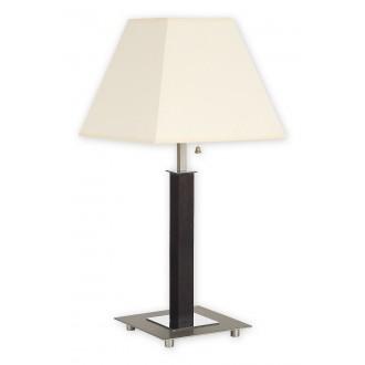 LEMIR O1688D WG | Inari Lemir asztali lámpa 52cm húzókapcsoló 1x E27 króm, szatén króm, wenge