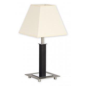 LEMIR O1688M WG | Inari Lemir asztali lámpa 43cm húzókapcsoló 1x E27 króm, szatén króm, wenge
