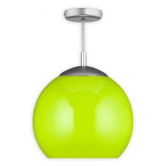 LEMIR O1836 W1 K_4 | Kule Lemir mennyezeti lámpa 1x E27 matt nikkel, zöld
