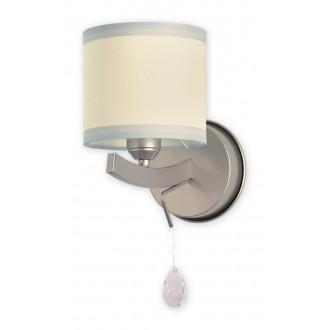 LEMIR O1860 SAT   Konek Lemir fali lámpa 1x E27 szatén króm, krémszín, átlátszó