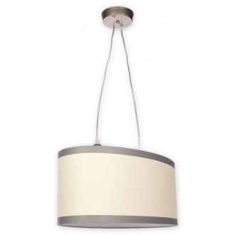 LEMIR O1867 SAT   Konek Lemir függeszték lámpa 2x E27 szatén króm, krémszín, átlátszó