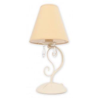LEMIR O1968 AB BEZ | Velio-Abazur Lemir asztali lámpa 41cm vezeték kapcsoló 1x E27 antikolt fehér, bézs