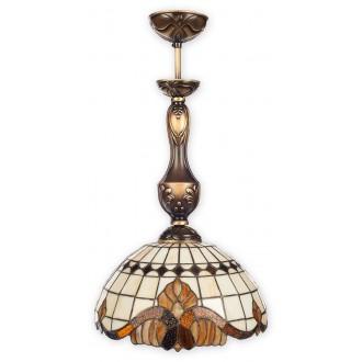 LEMIR O2061 W1 PAT | Vitrus Lemir függeszték lámpa 1x E27 bronz, többszínű