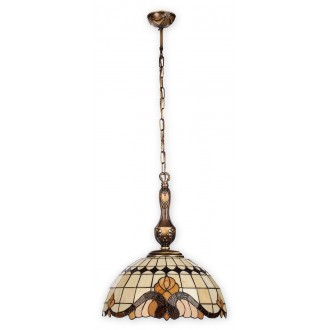 LEMIR O2062 W3 PAT | Vitrus Lemir függeszték lámpa 3x E27 bronz, többszínű