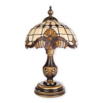 LEMIR O2068 LM1 PAT | Vitrus Lemir asztali lámpa 43cm vezeték kapcsoló 1x E27 bronz, többszínű