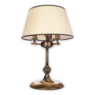 LEMIR O2078 LD3 PAT | MaximL Lemir asztali lámpa 51cm vezeték kapcsoló 3x E14 bronz, fehér