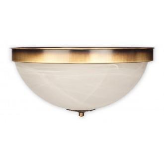 LEMIR O2121 P2 PAT | Arkadia Lemir mennyezeti lámpa 2x E27 bronz, fehér