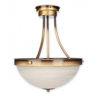 LEMIR O2132 W2 PAT | Arkadia_Plus Lemir mennyezeti lámpa 2x E27 bronz, fehér