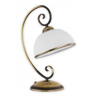 LEMIR O2498 L1 PAT | Indra Lemir asztali lámpa 38cm 1x E27 patina