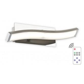 LEMIR O2510 K1 SAT + PILOT-NW | Linea_LED Lemir fali lámpa távirányító szabályozható fényerő 1x LED 576lm 4000K króm, fehér