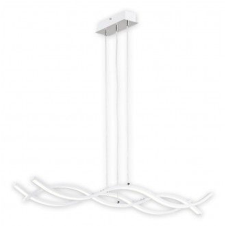 LEMIR O2513 W3 BIA-WW | Linea_LED Lemir függeszték lámpa 1x LED 5400lm 3000K króm, fehér